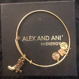 Alex & Ani Cowboy boot bracelet